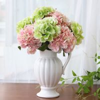 厂家直销 5头大绣球花仿真花塑料花束假花绢花装饰花客厅插花花艺摆件