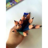 小学生铅笔无毒素描手绘专用考试hb儿童写字三角笔正姿文具美术