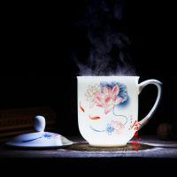 陶瓷礼品茶杯订做 员工福利礼品茶杯定制 合元堂