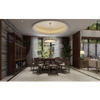鲁能领秀城装修|茶园联排别墅设计|茶园天古|现代中式风格