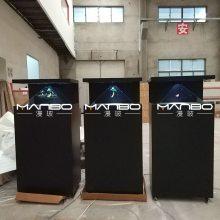 上海漫玻保时捷定制3D全息金属展示柜270-32全息投影幻像系统