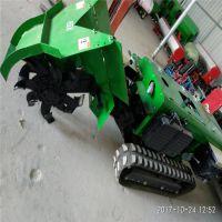 柴油开沟施肥机 富兴 果园履带施肥回填除草旋耕一体机