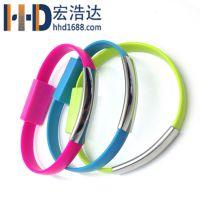 宏浩达数据线厂家手环数据线、创意手环充电线工厂专业定制