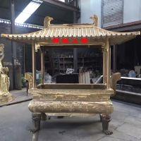 长方形铸铜香炉,安徽黄山观音殿铜香炉供应商
