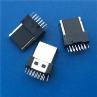 LG 三星夹板12P公头半包铁壳全塑夹板插头带接地USB三星插头