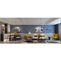 山水装饰2018年最新效果图97m²现代简约装修设计,三口之家的精致生活方式