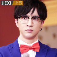 薛之谦同款文艺复古半框眼镜框 潮男女款可配近视眼镜平光镜394