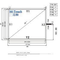 M-Touch订做嵌入式19寸4线4:3电阻触摸屏工业级电脑显示触摸板广告排队取号机