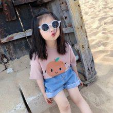 童装T恤3.8元一手货源便宜童装批发网热卖的夏季短袖T恤农村卖的小衫汗