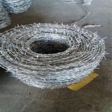 刺绳围栏批发 多少钱一吨钢刺绳 蛇腹型刀片刺网