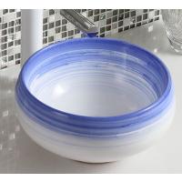 2018简欧大方蓝色新款迷你陶瓷台上盆洗手盆