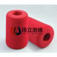 东莞玮立厂家直销特种海绵橡塑管 NBR磨砂海绵管