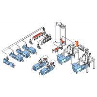 宁波绿泰 中央供料,真空上料机,全自动化控制,车间整洁,输送量大,方便