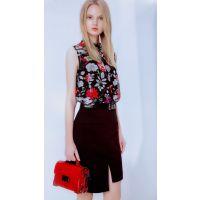 茜可可18夏杭州品牌折扣女装走份时尚淑女一手货源连衣裙短袖惠品