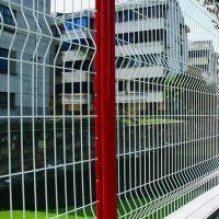 厂家供应1.2*3米桃型柱护栏 市政围栏网 公路专用铁丝防护网