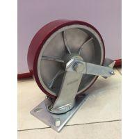 广东超重型聚氨酯脚轮规格 8寸10寸12寸万向美式铝芯聚氨酯脚轮型号