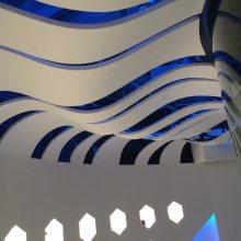 欧佰弧形铝方通 扭曲方通吊顶 铝合金方通椭圆天花