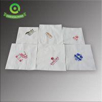 天津酒店餐巾纸 23双层单色印标餐巾纸 原生木浆