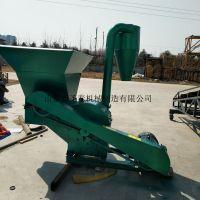 大型秸秆粉碎机 带沙克龙的秸秆粉碎设备 圣泰双进料口粉碎机