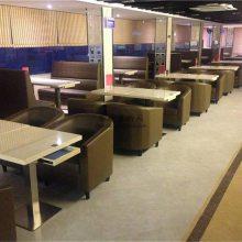 深圳港式餐厅家具定做,港式茶餐厅桌子椅子卡座沙发厂家