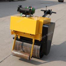 山东鲁恒手扶小型汽油压路机 700A手扶单轮重型汽油压路机 建筑压实机械