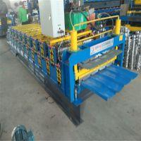 甘肃客户购买840/900双层压瓦机 两层彩钢瓦机器地鑫现货