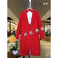 北京品牌折扣女装尾货店宽松系带毛呢大衣外套尾货走份批发一手货源
