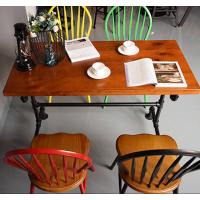 倍斯特热销现代中式咖啡餐厅家具复古中餐奶茶实木餐桌厂家定制