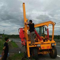 供应公路护栏打桩机高速马路护栏打桩机