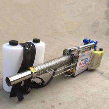蔬菜杀虫脉冲消毒机 商用消毒烟雾机视频 双管水冷农用弥雾机 乐丰牌