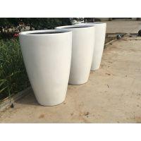 青岛玻璃钢花盆白色大花缸厂家定制