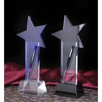 星星奖杯,蓝色水晶奖杯,活动企划奖杯