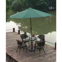 合肥休闲会所桌椅配套遮阳伞咖啡馆酒吧售楼处室外洽谈家居庭院伞