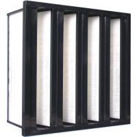 山东V型高效空气过滤器、山东有隔板高效过滤器、