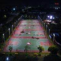 贵州篮球场柱子高度 6米一拖二标准球场使用 购买LED灯杆厂家在哪