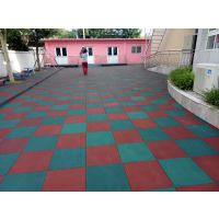 长沙儿童安全地垫批发 幼儿园室外地胶效果图 户外正地方形胶供货