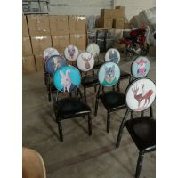 厂家直销金属椅子卡航家具酒店咖啡厅美式复古主题餐厅餐椅