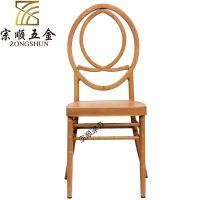 欧式高档金属竹节椅 铁艺凤凰椅 主题婚庆酒店餐椅金属竹节圆背椅