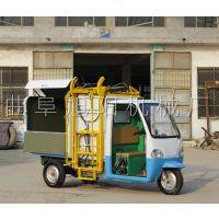 供应旭阳牌2.6方大容量垃圾车充电式保洁车勾臂式社区环卫车