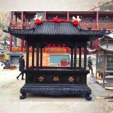 供应大雄宝殿前长方形仿古香炉铸铁佛寺道观祠堂露天香炉