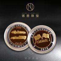 定制金币 电镀双色纪念币 公司周年庆金属纪念章定做
