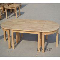 厂家直销幼儿园儿童八人实木组合桌
