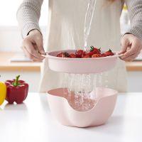 欧式双层可分离式塑料懒人果盘 瓜子水果沥水盘 创意家居用品直销