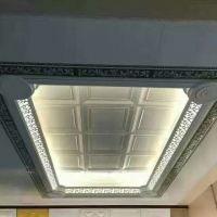 集成吊顶二级铝梁透光发光镂空半吊复式错层加高铝梁铝型材现货辅材及配件