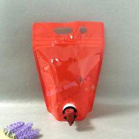 无菌袋装定做生产厂家 1L刺梨原汁纯铝自立袋 可配蝴蝶阀 双插底液体袋