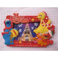 PVC软胶圣诞相框,精美卡通相架,赠送礼品照片框