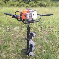 爆款汽油两冲程植树挖坑机农用树木种植机电线杆打坑机