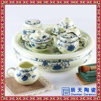 日式简约办公室小茶台家用汝窑功夫茶具陶瓷干泡茶盘带托套装