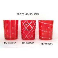 玻璃杯雕刻 喷色玻璃杯 价格便宜 加工定制器型花型颜色 厂家批发
