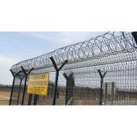 湖北大型飞机场防护网 Y型安全防御网 V型加强筋刀片滚刺护栏网
